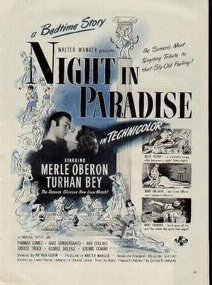 Night in Paradise - Theatrical release poster