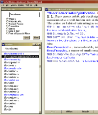 Screenshot of the first CD-ROM edition of the OED