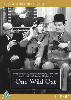 <i>One Wild Oat</i> 1951 film by Jack Buchanan, Charles Saunders