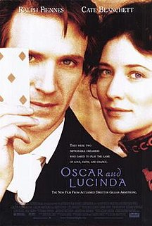 <i>Oscar and Lucinda</i> (film) 1997 American film directed by Gillian Armstrong