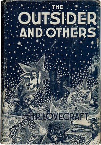 The Outsider and Others - Dust-jacket illustration by Virgil Finlay.