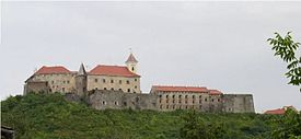 The Palanok Castle in Mukachevo.