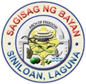 Siniloan - Image: Ph seal laguna siniloan