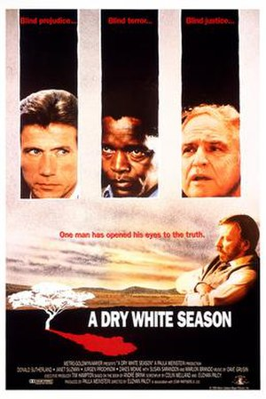 A Dry White Season - Theatrical release poster