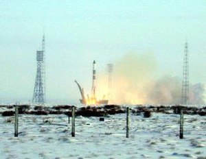 Progress M1-5 - The launch of Progress M1-5 on a Soyuz-U rocket from the Baikonur Cosmodrome