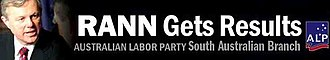 South Australian state election, 2006 - Labor website header during the election campaign. Similar designs were used on ALP stationery and posters