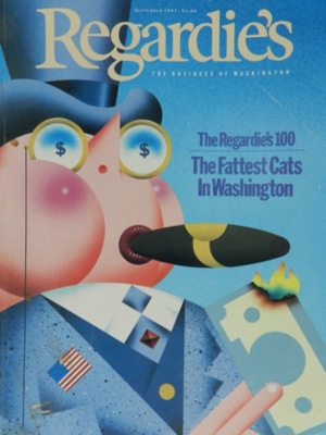 Regardie's - Cover of September 1987 issue, featuring popular annual Top 100 list of richest Washingtonians