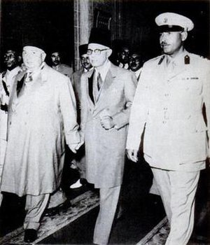 Regencies in Egypt - From left to right: Prince Abdel Moneim, Barakat Pasha and Rashad Mehanna.
