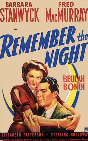 Remember the Night - Theatrical poster