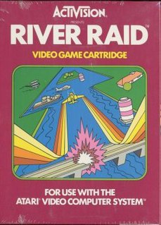 <i>River Raid</i> Scrolling shooter video game by Activision from 1982