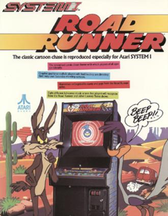 Road Runner (video game) - Arcade flyer