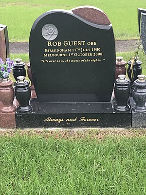 Rob Guest - Grave at Macquarie Park