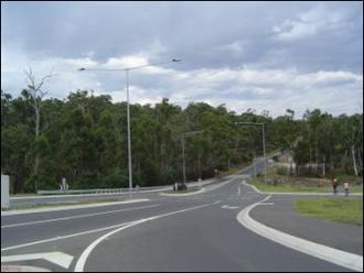 Doncaster East, Victoria - Reynolds Road heading towards the crossing of the Mullum Mullum Creek and over into Warrandyte, 2004