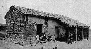 History of Santa Monica, California - An 1840 Santa Monica adobe home (photographed in 1890).