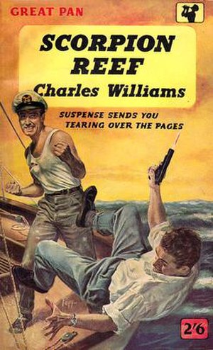 Sam Peffer - The cover of Scorpion Reef (1958) by Charles Williams featured Peffer in boxing stance and his stuntman brother-in-law, Jack Cooper, being knocked out of the boat.
