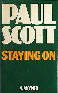 <i>Staying On</i> 1977 book by Paul Scott