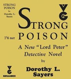 <i>Strong Poison</i> 1930 mystery novel by Dorothy L. Sayers