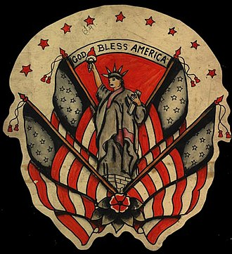 Flash (tattoo) - Patriotic flash ca. 1940