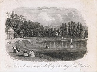 Studley Royal Park - The Lake, from Temple of Piety, Studley Park, Yorkshire. Published 21 June 1866.
