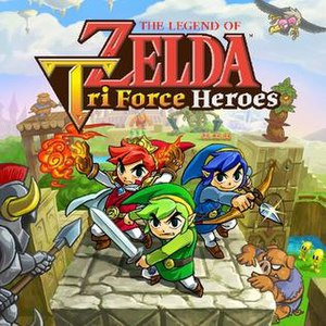 The Legend of Zelda: Tri Force Heroes - Packaging artwork