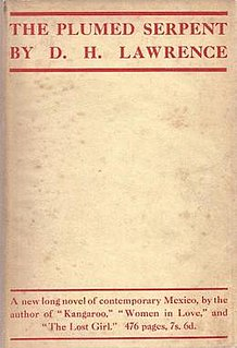 <i>The Plumed Serpent</i> 1926 novel by D. H. Lawrence