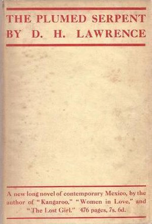 The Plumed Serpent - Cover of the first edition