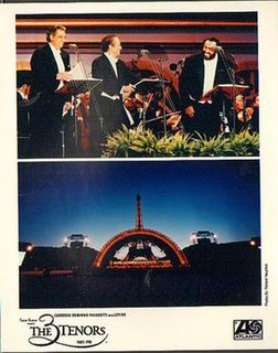 The Three Tenors Popular operatic singing group: Plácido Domingo, José Carreras and Luciano Pavarotti