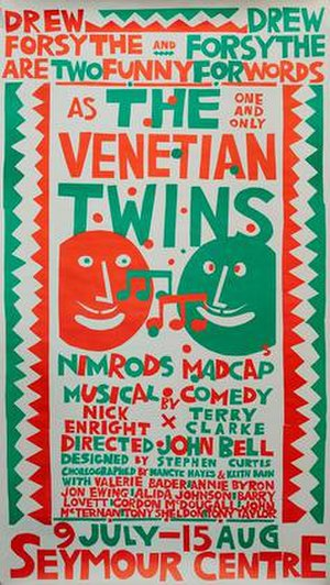 The Venetian Twins (musical) - Poster for 1981 production by Martin Sharp