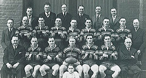 Bill Kelly (rugby league) - Balmain Premiers 1939 – Bill Kelly, back row, third from left