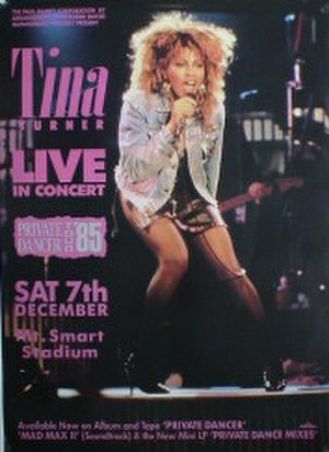 Private Dancer Tour - Image: Tt pdt 85
