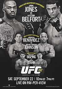 A poster or logo for UFC 152: Jones vs. Belfort.