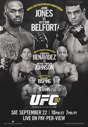 UFC 152 - Image: UFC 152 promotional poster