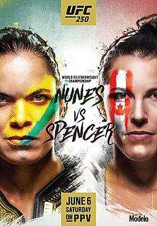 UFC 250: Nunes vs. Spencer Fight Poster