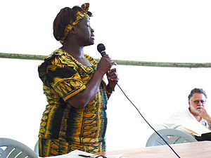Wangari Maathai - Wangari Maathai speaks about deforestation