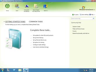 Windows Home Server 2011 - Windows Home Server 2011 Dashboard