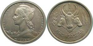 Malagasy franc - 1 franc 1948