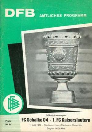 1972 DFB-Pokal Final - Image: 1972 DFB Pokal Final programme