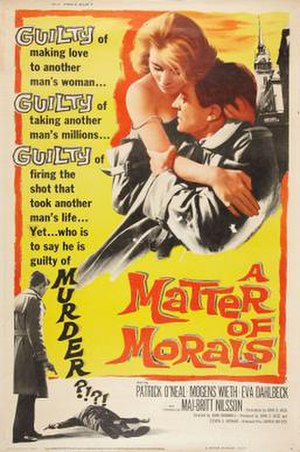 A Matter of Morals - Theatrical release poster