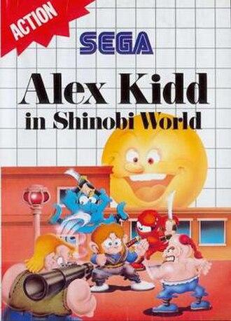 Alex Kidd in Shinobi World - Cover art