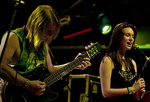 Angelfire (band) - Sarah Spencer and Steve Morse as Angelfire