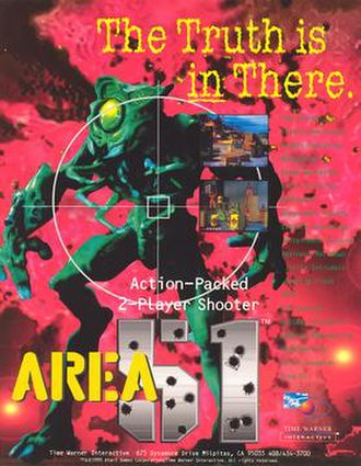 Area 51 (1995 video game) - Arcade flyer