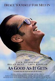 <i>As Good as It Gets</i> 1997 American romantic comedy film directed by James L. Brooks