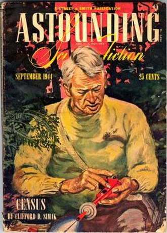 A Can of Paint - Cover of Astounding, September 1944