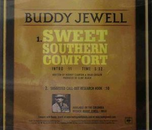 Sweet Southern Comfort - Image: Buddy Jewell Sweet Southern Comfort