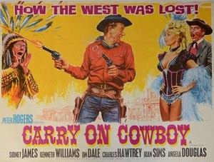 Carry On Cowboy - Original UK quad poster