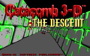 Catacomb 3-D - Title screen