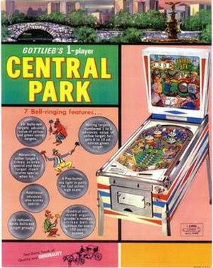 Central Park (pinball) - Image: Central Park (pinball)