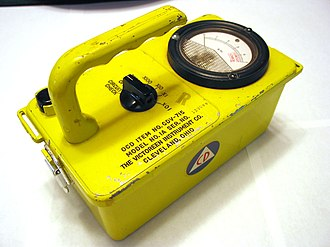 Civil defense Geiger counters - An example of the CD V-715 survey meter.