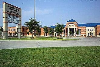 Cypress Ridge High School - Image: Cy Ridge Front
