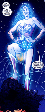 Diana meets the Wonder Woman of Earth-Two. Art by Phil Jimenez.